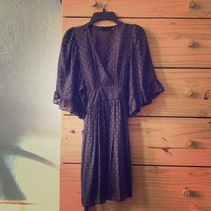 Rare Betsy Johnson silk dress with slip